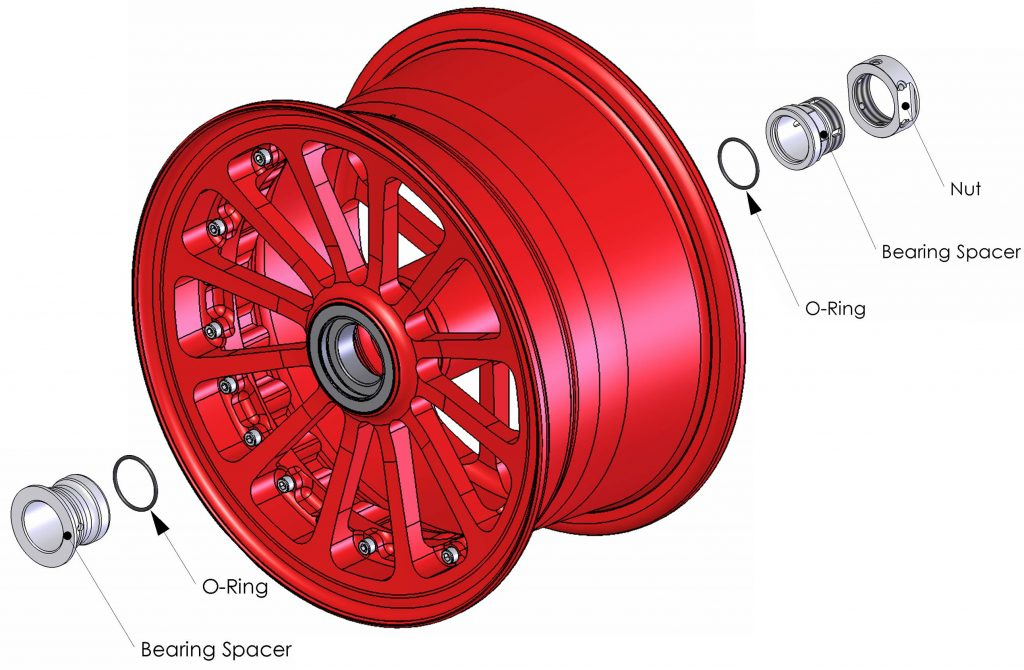 Diagram of Beringer front wheel for DHC-6 Twin Otter